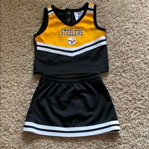 Steelers 2 piece cheer outfit